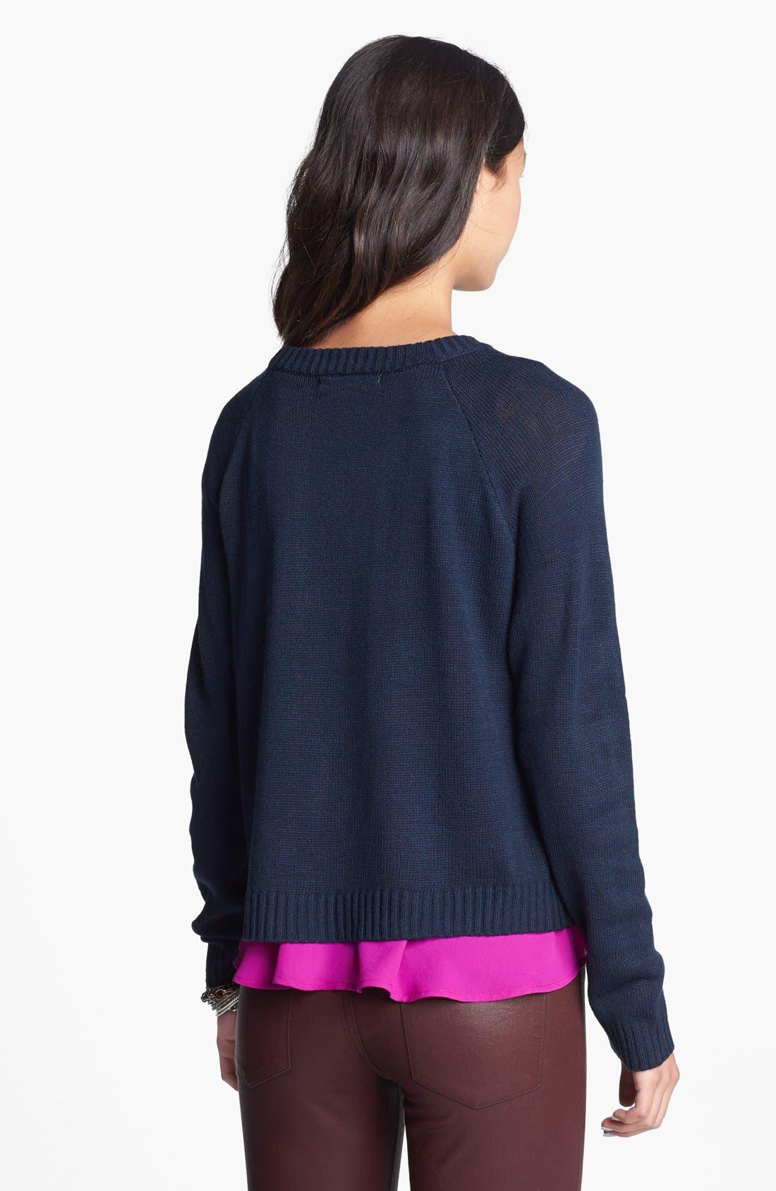 Alternate Image 2  - Love by Design 'Love' Scoop Neck Sweater (Juniors)