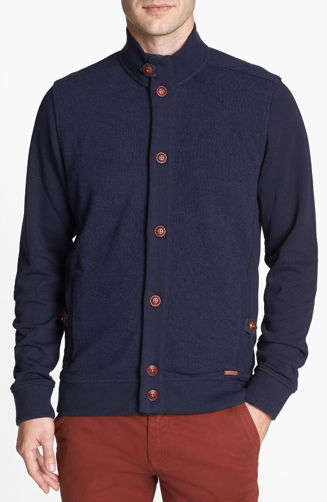 Alternate Image 1 Selected - Ted Baker London 'Doolan' Jersey Cardigan