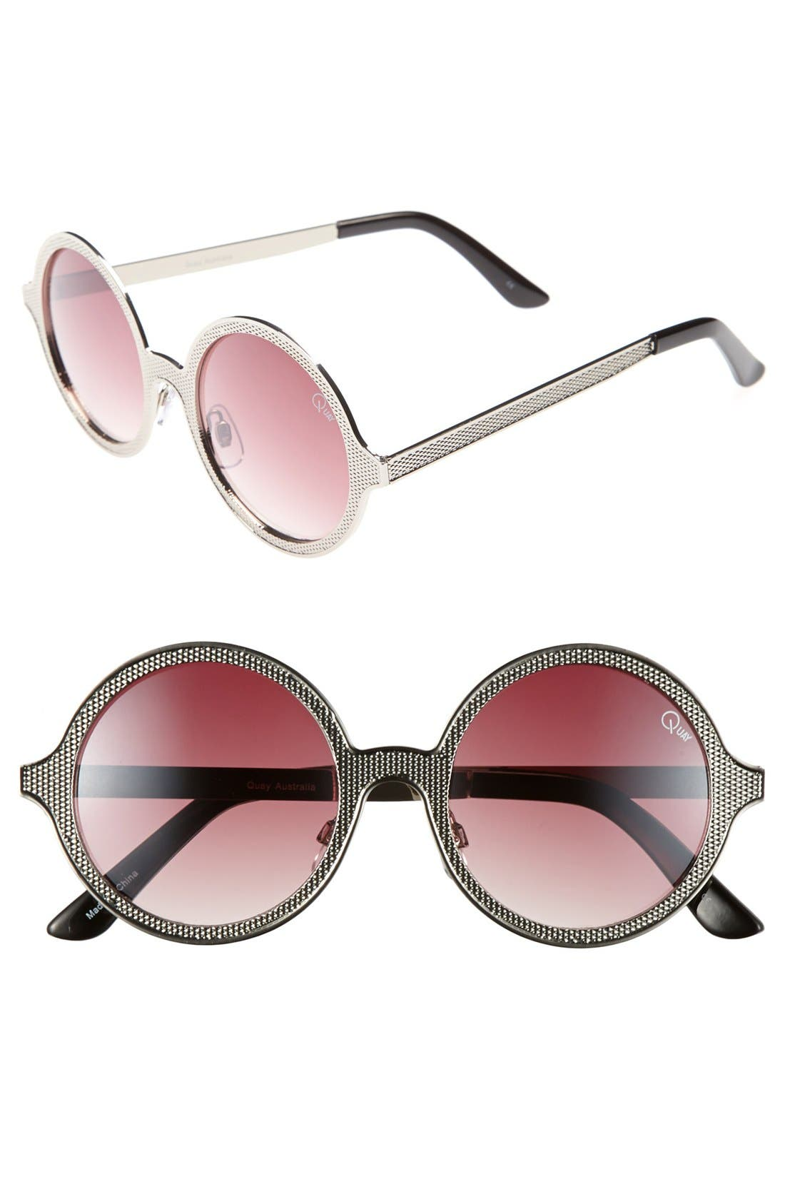 Main Image - Quay 'Hena' 50mm Metal Sunglasses