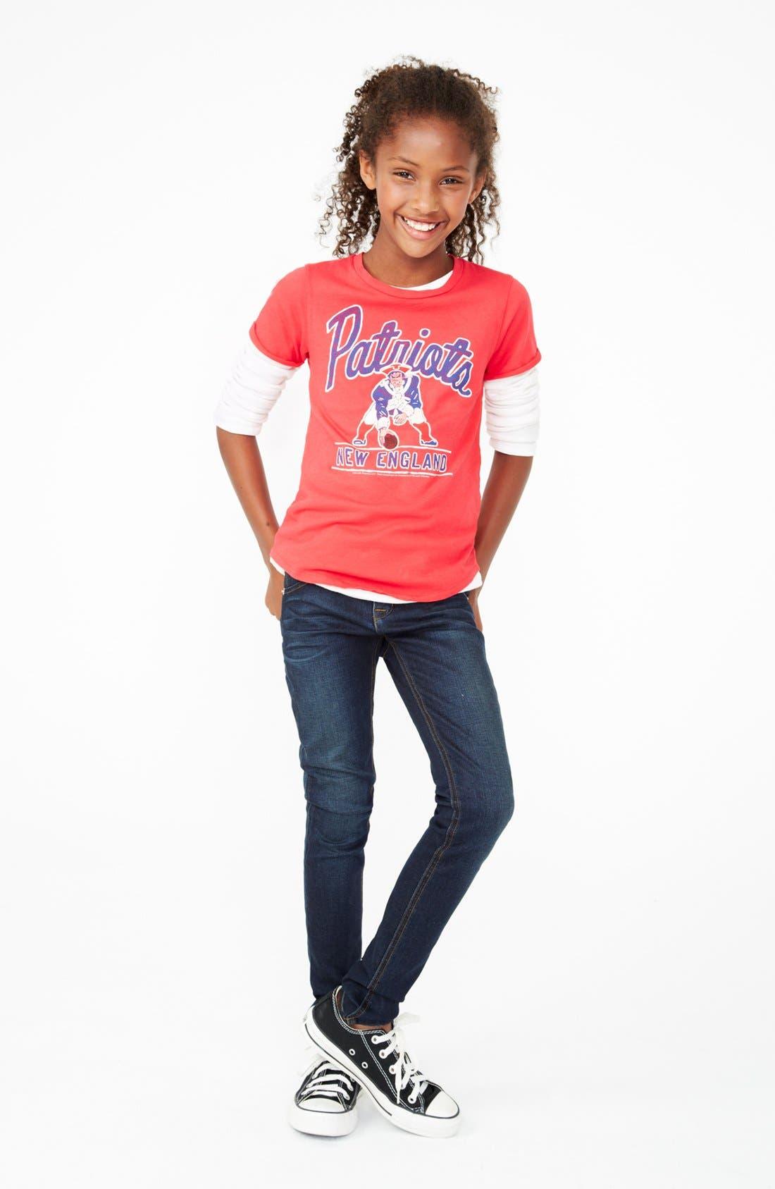 Main Image - Junk Food Tee & Hudson Kids Skinny Jeans (Big Girls)