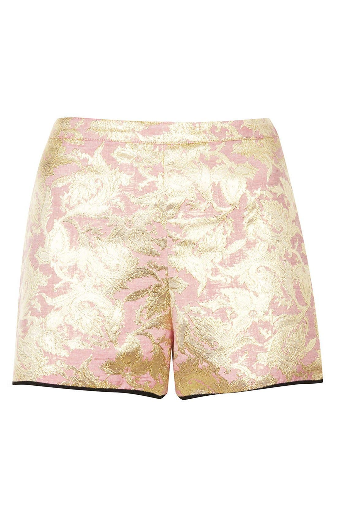 Alternate Image 3  - Topshop Metallic Jacquard Shorts