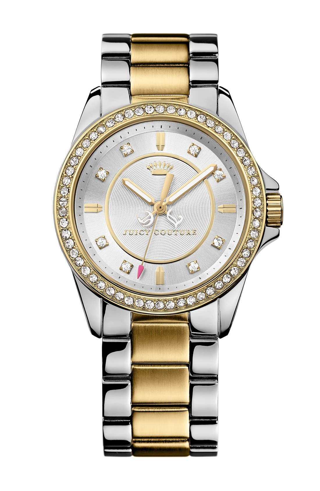 Alternate Image 1 Selected - Juicy Couture 'Stella' Crystal Bezel Bracelet Watch, 36mm
