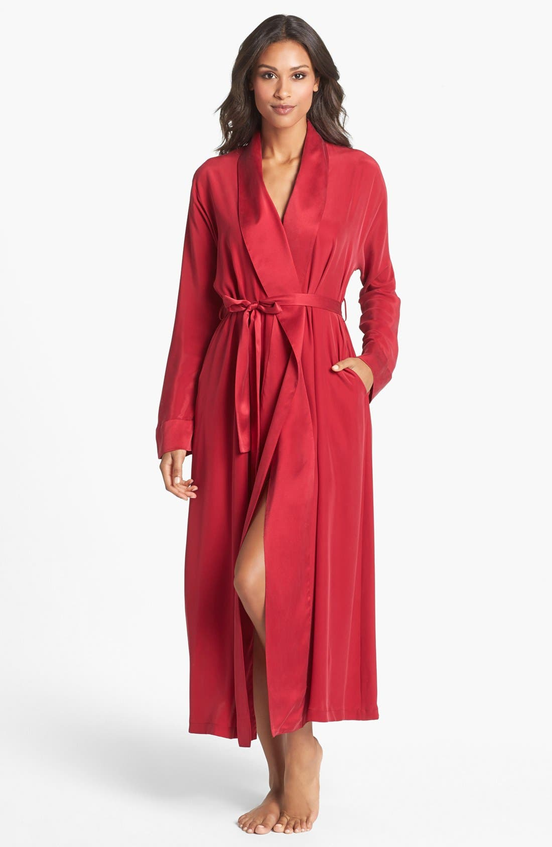 Main Image - Donna Karan 'Glamour' Silk Robe