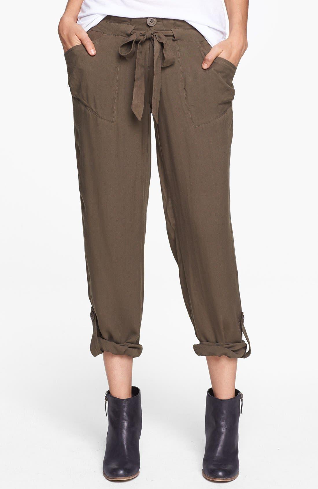 Alternate Image 1 Selected - Jolt Drawstring Woven Pants (Juniors)