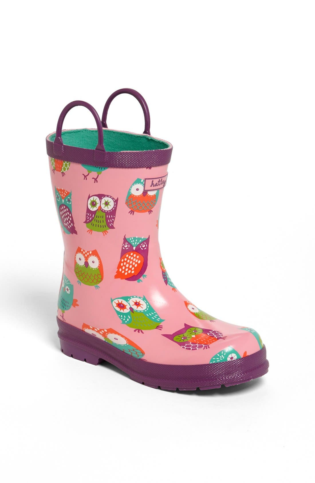 Alternate Image 1 Selected - Hatley 'Party Owls' Rain Boot (Walker, Toddler & Little Kid)