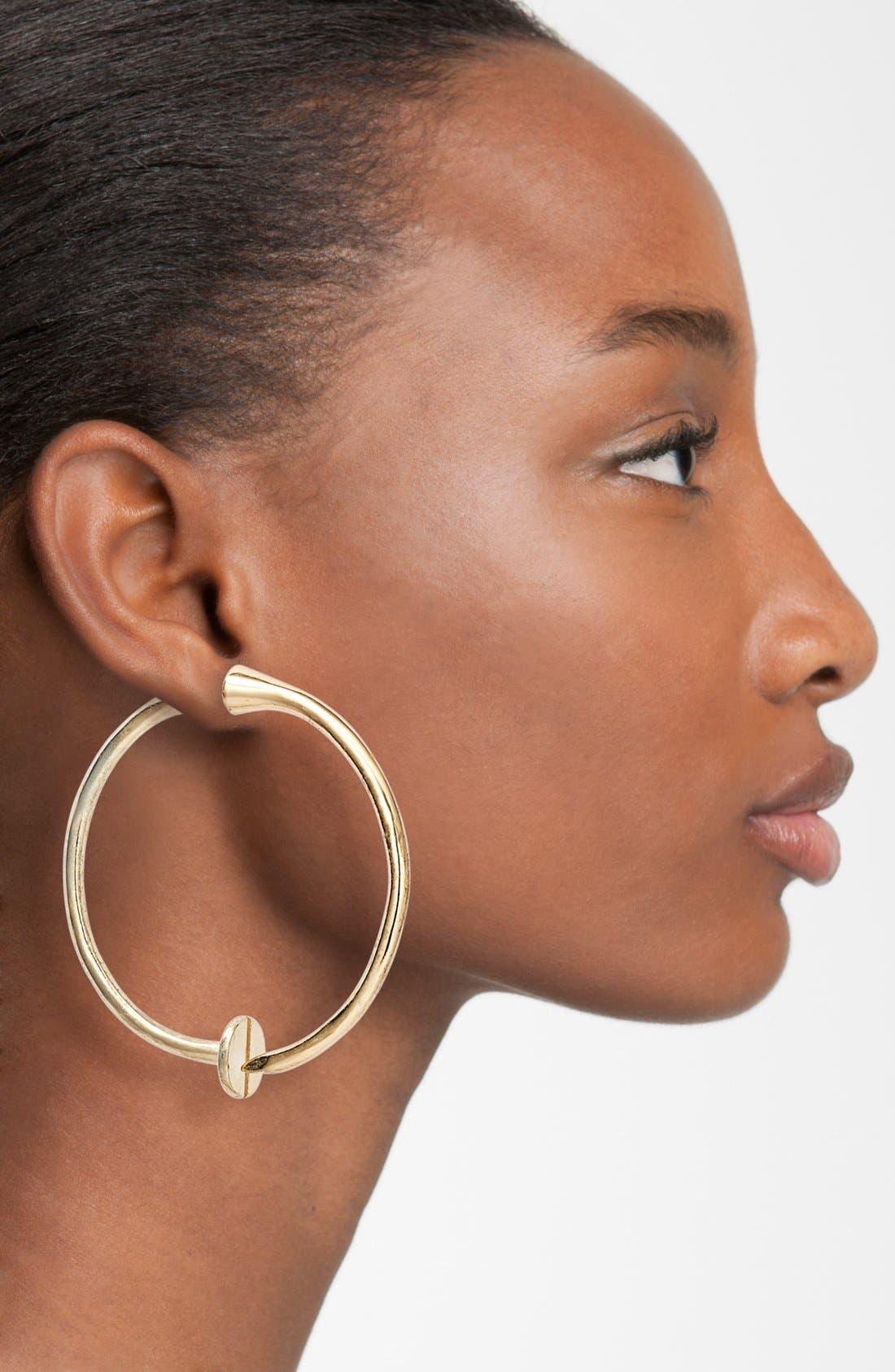 Alternate Image 2  - Guinevere 'Bind' Hoop Earrings