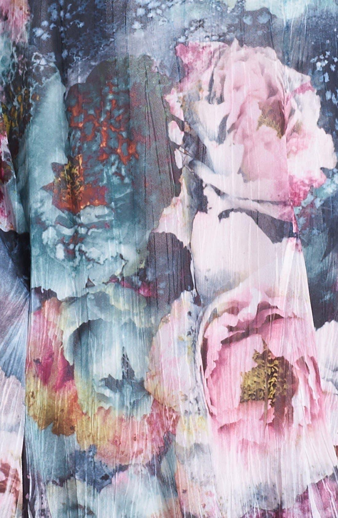 Alternate Image 3  - Komarov Scoop Neck Print Chiffon Dress (Petite)