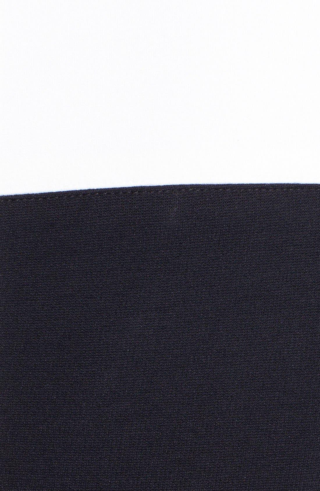 Alternate Image 3  - Ivy & Blu Colorblock Ponte Knit Sheath Dress
