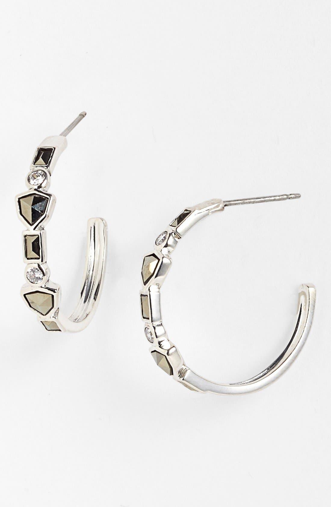 Main Image - Judith Jack 'Purple Moon' Hoop Earrings