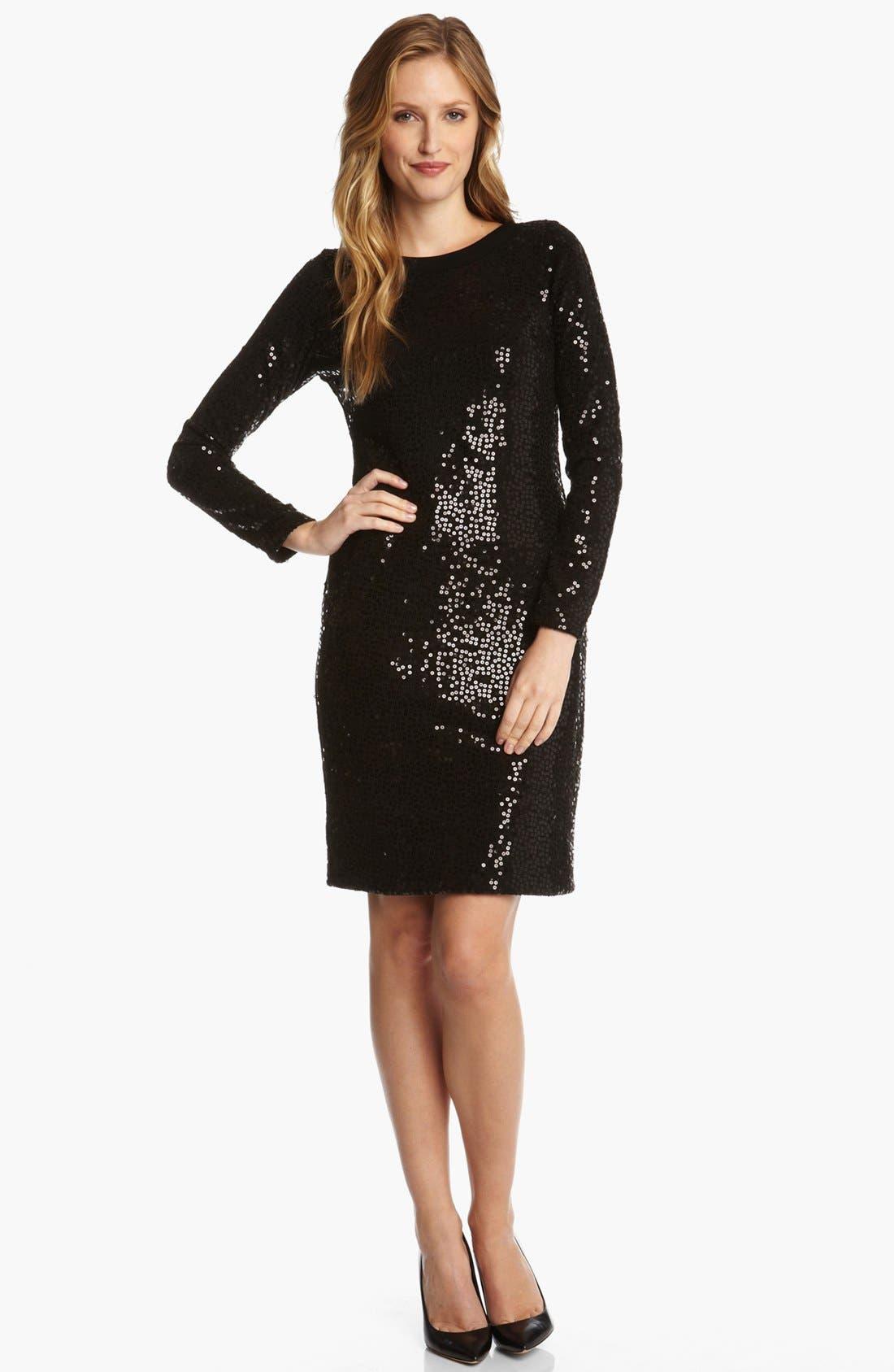 Alternate Image 1 Selected - Karen Kane Sequin Sweater Dress