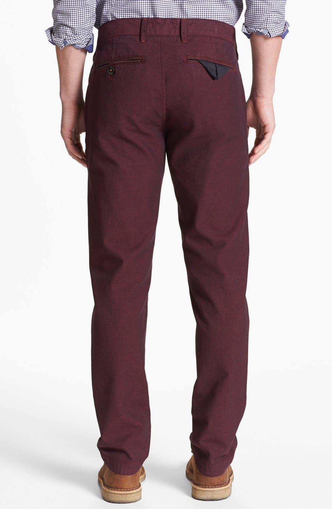 Alternate Image 2  - Ted Baker London 'Yayzerz' Overdyed Herringbone Pants