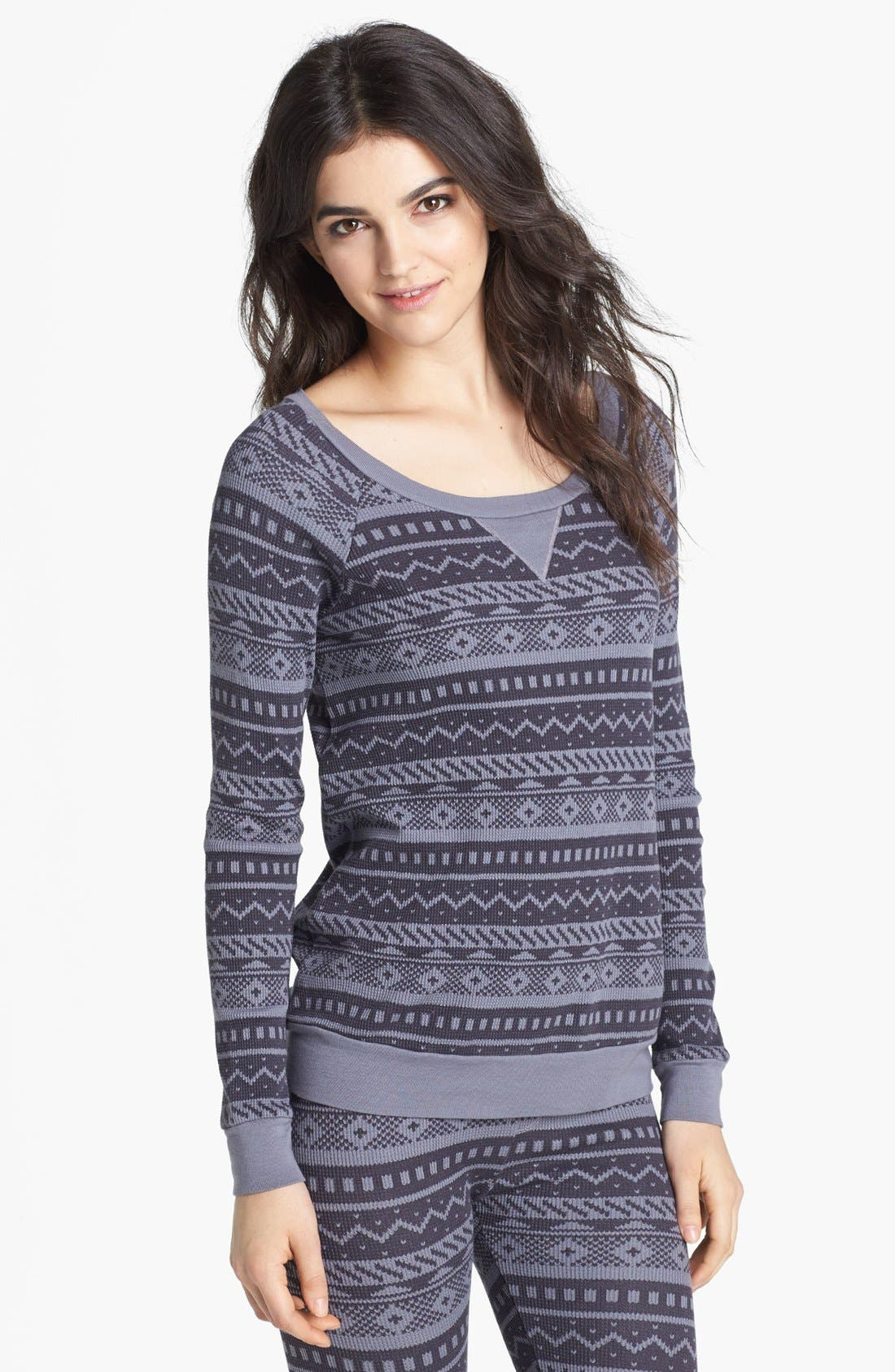 Alternate Image 1 Selected - Splendid Fair Isle Thermal Sweatshirt