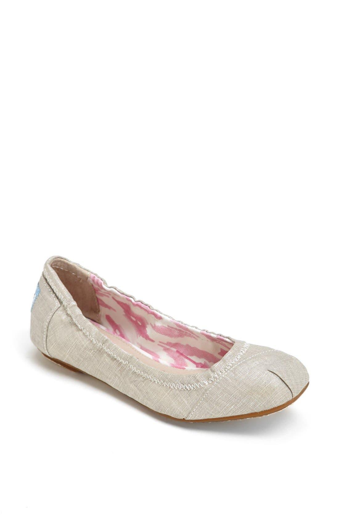Alternate Image 1 Selected - TOMS Metallic Ballet Flat (Women)