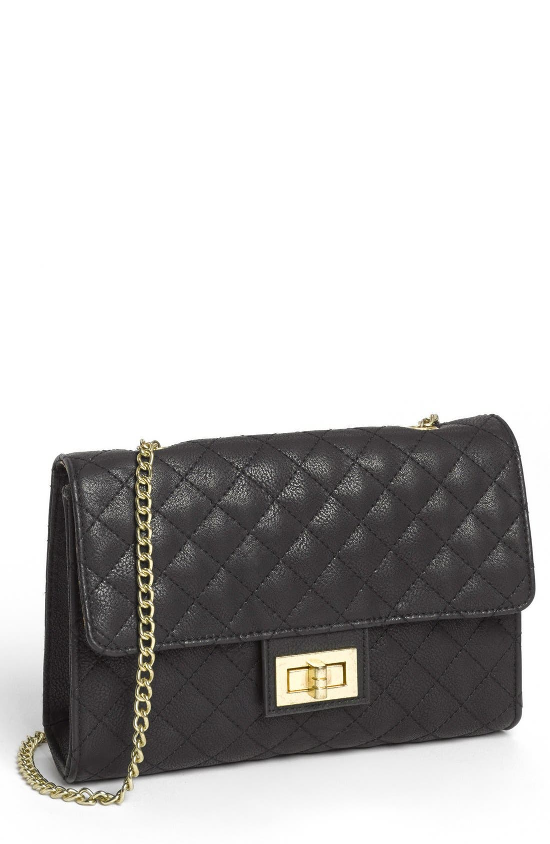 Alternate Image 1 Selected - Lulu Quilted Crossbody Bag (Juniors)