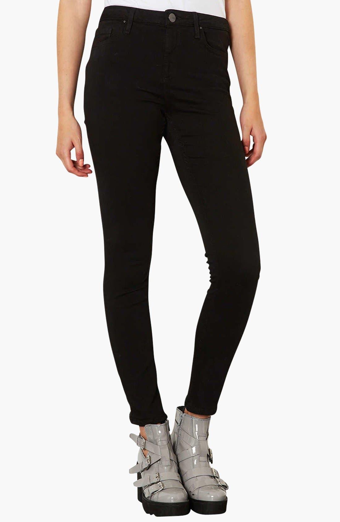 Main Image - Topshop Moto 'Jamie' High Rise Skinny Jeans (Regular, Short & Long)