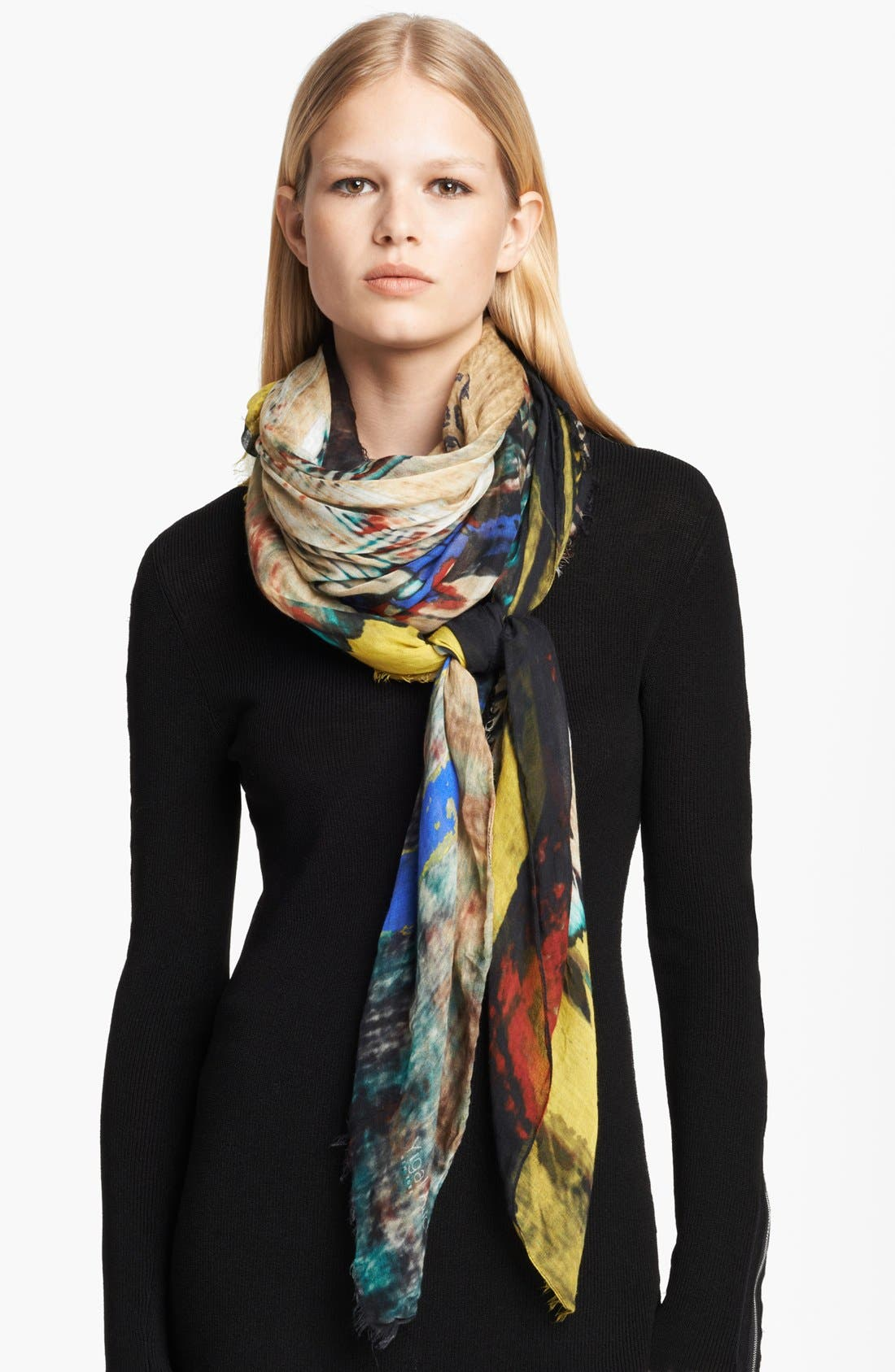 Alternate Image 1 Selected - Yigal Azrouël 'City Lion' Modal & Cashmere Scarf
