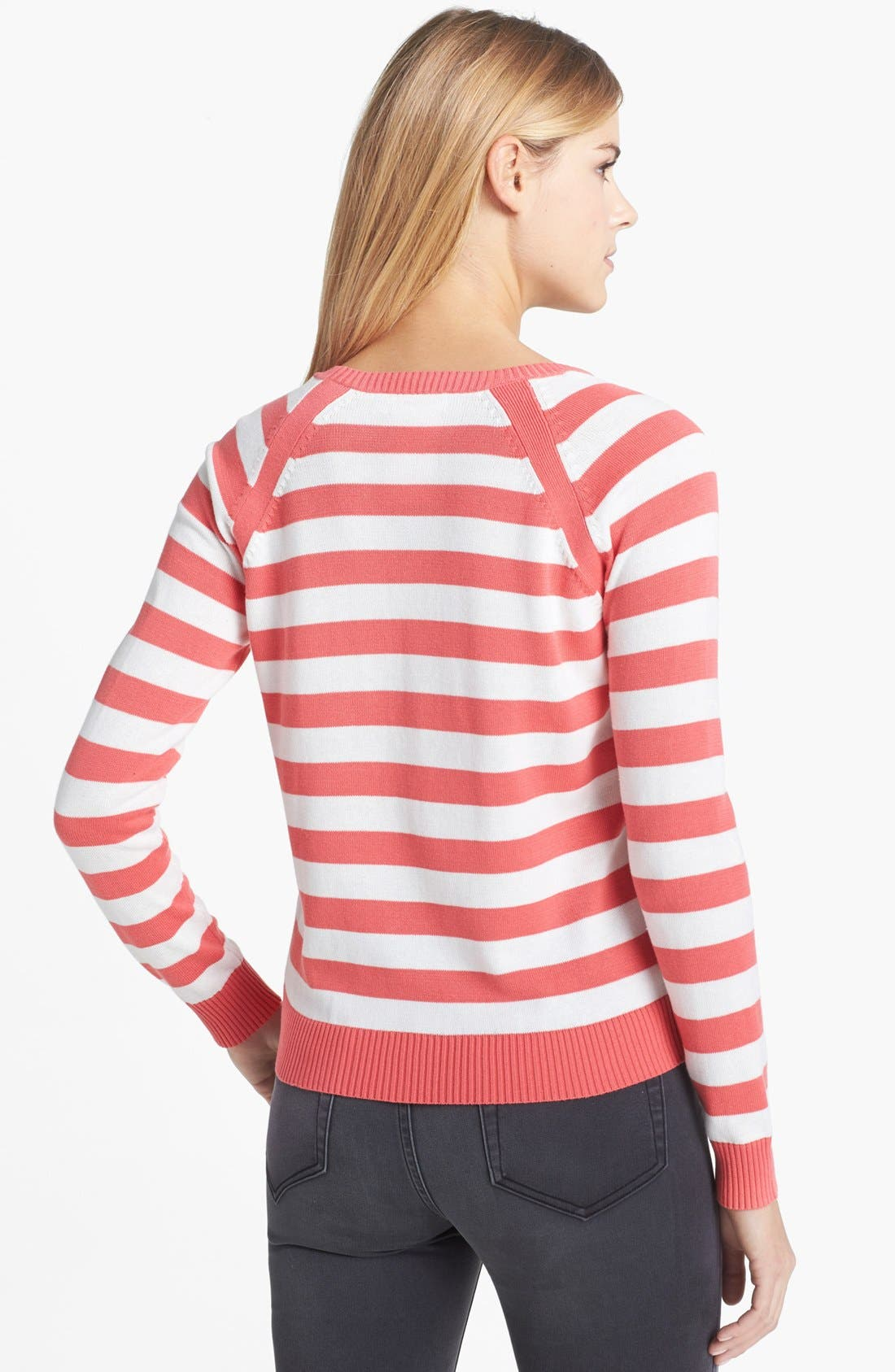 Alternate Image 2  - Two by Vince Camuto 'Simple Stripe' Sweater