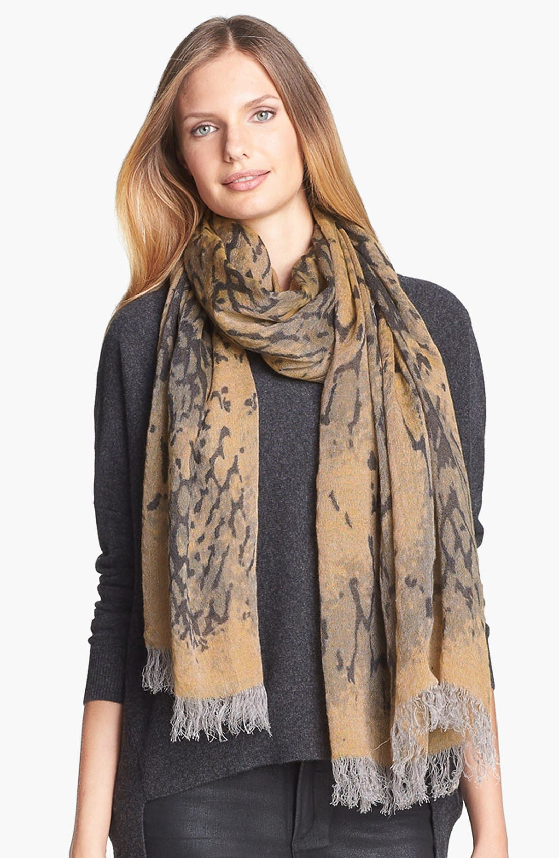 Alternate Image 1 Selected - Eileen Fisher Print Scarf