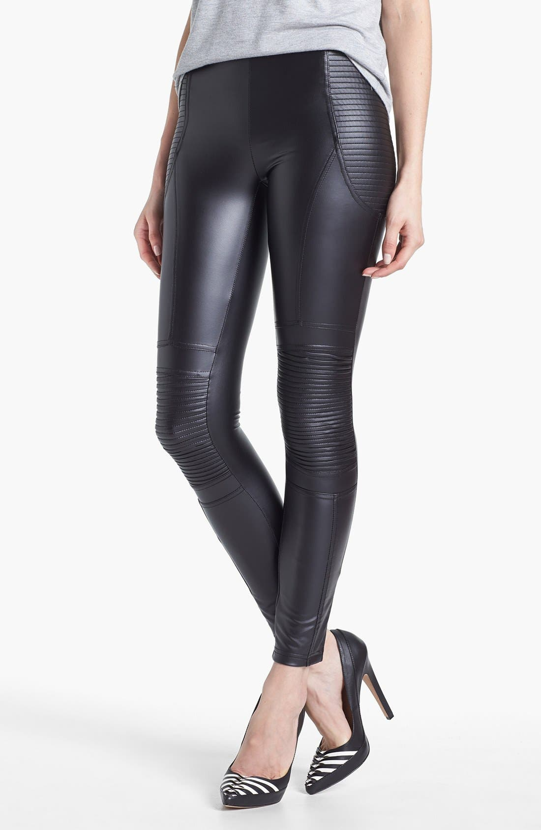 Alternate Image 1 Selected - MINKPINK 'Vroom Vroom' Faux Leather Leggings
