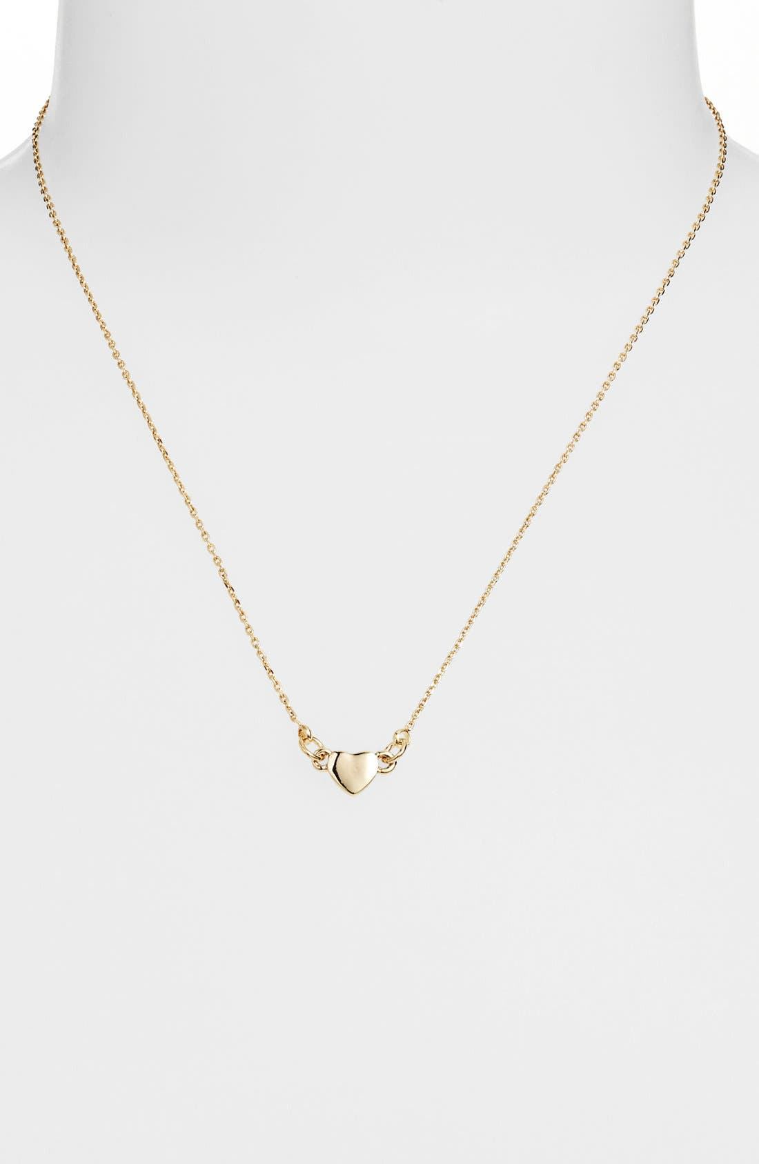Alternate Image 1 Selected - Stephan & Co. Mini Heart Charm Necklace (Juniors)