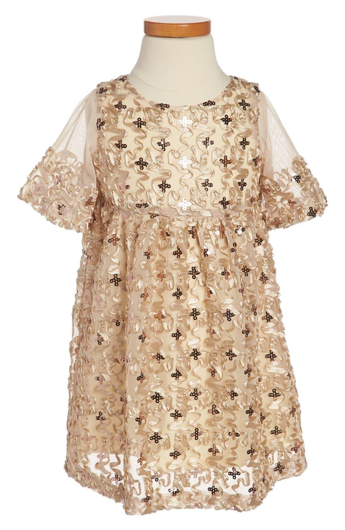 Alternate Image 1 Selected - Laundry by Shelli Segal Sequin Dress (Toddler Girls)
