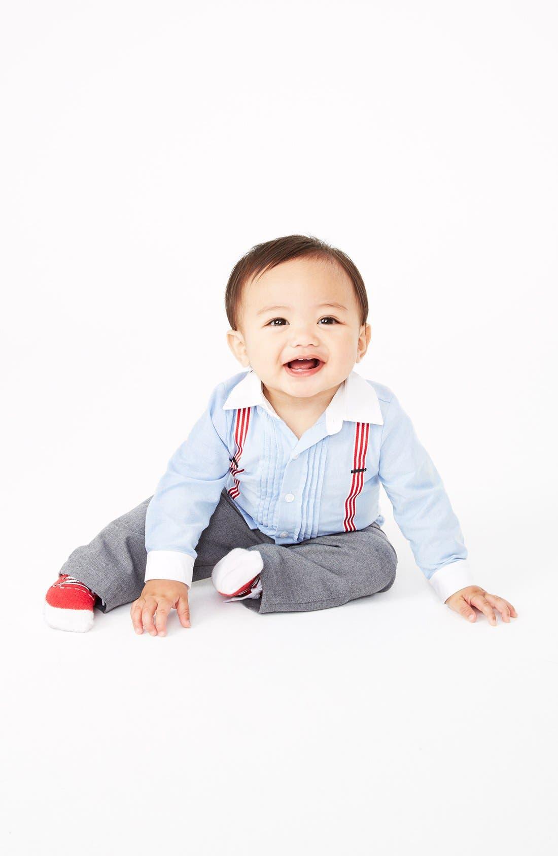 Alternate Image 3  - Miniclasix Shirt & Pants (Baby Boys)