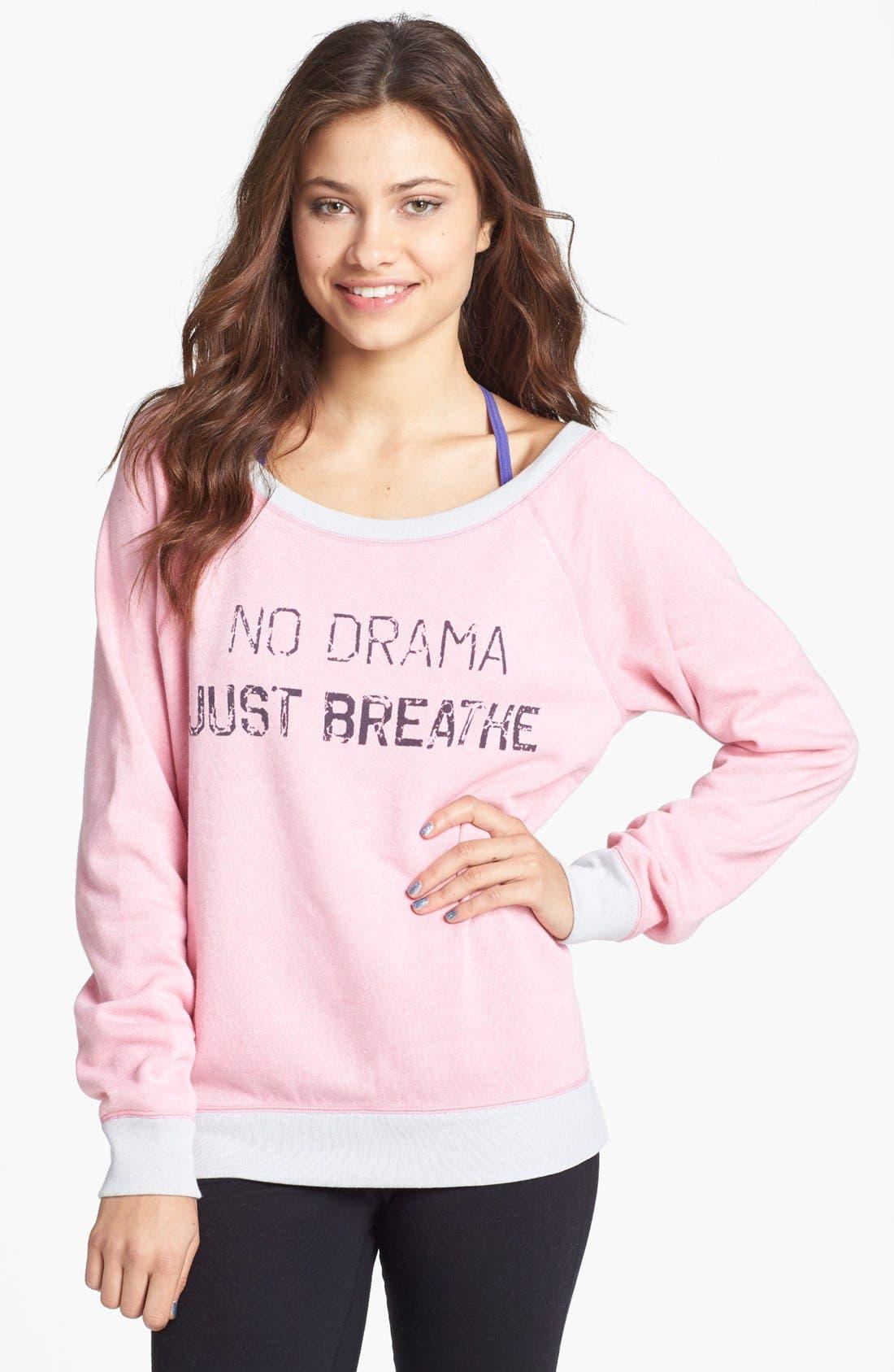 Main Image - Unit-Y 'No Drama, Just Breathe' Pullover