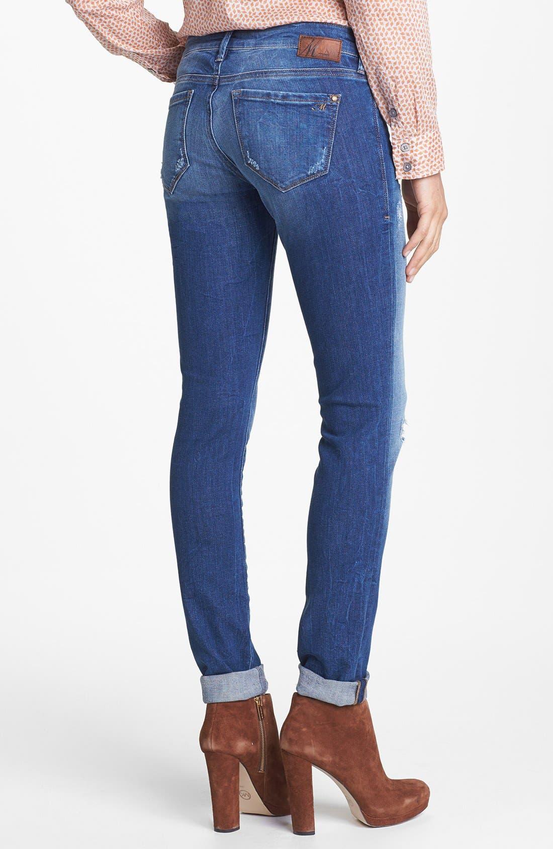 Alternate Image 3  - Mavi Jeans 'Serena' Super Skinny Jeans (Indigo Vintage)
