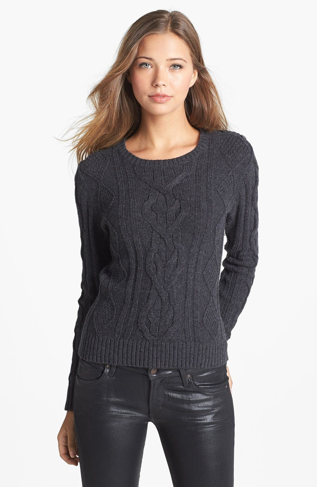Main Image - Caslon® Cable Knit Sweater