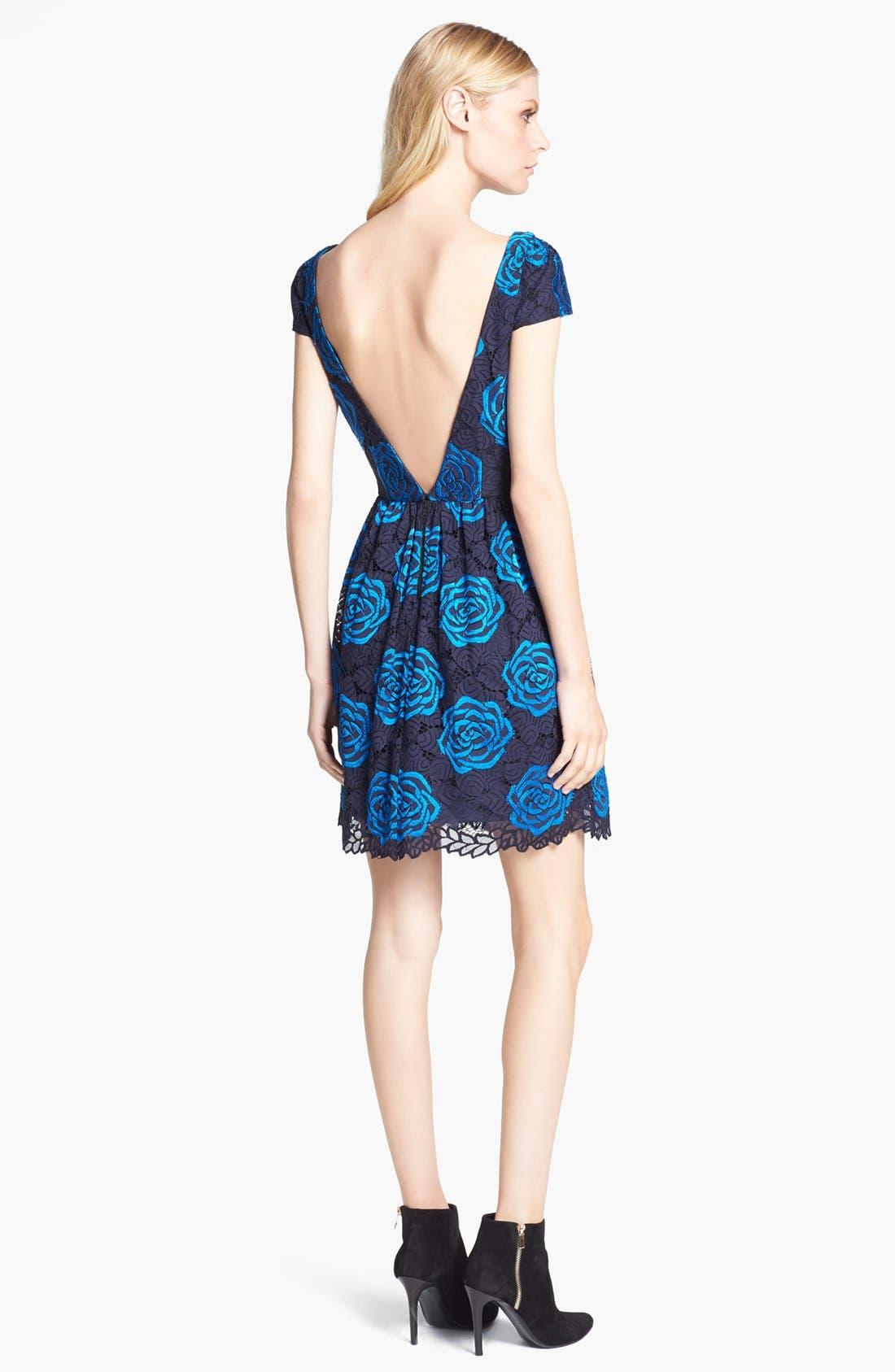Alternate Image 2  - Alice + Olivia 'Nelly' Rose Pattern Dress