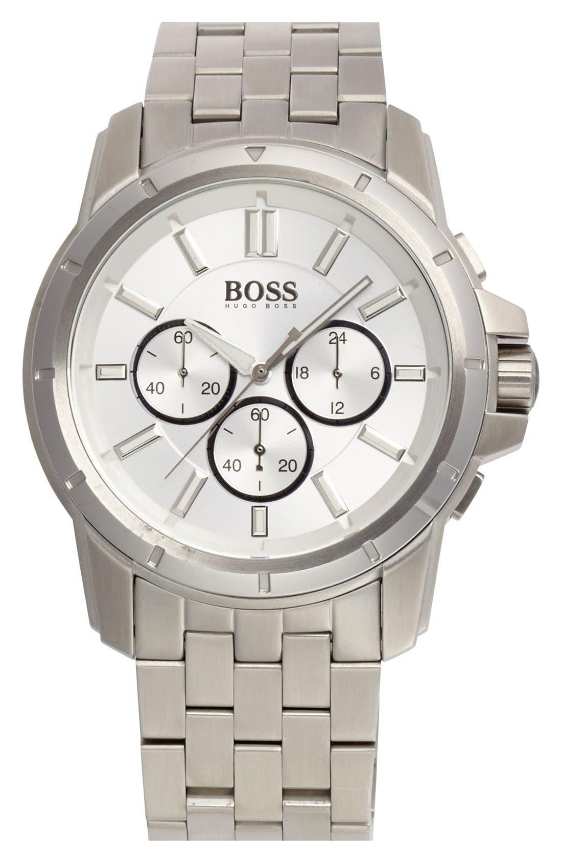 Alternate Image 1 Selected - BOSS HUGO BOSS Chronograph Bracelet Watch, 46mm