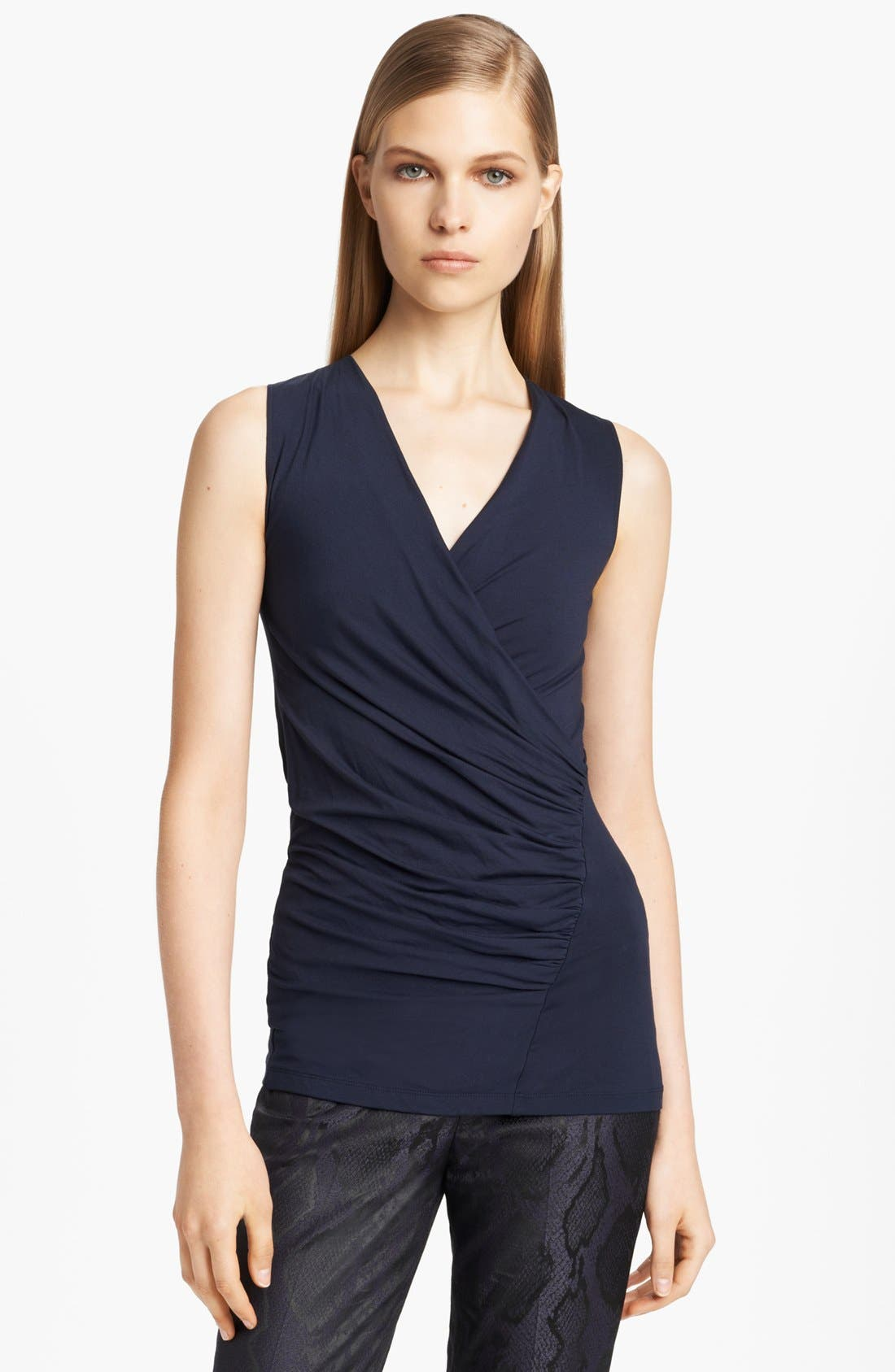 Main Image - Donna Karan Collection Surplice Stretch Jersey Top