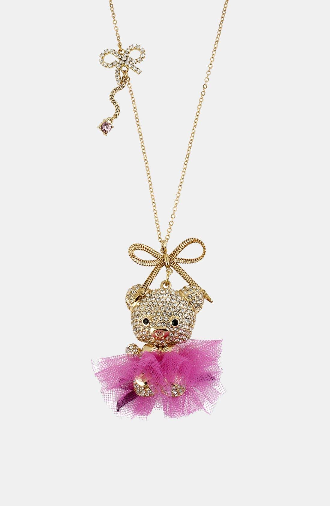 Main Image - Betsey Johnson 'Terrific Tutus' Long Pendant Necklace
