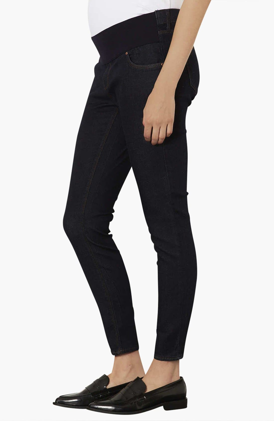 Main Image - Topshop 'Leigh' Maternity Jeans (Indigo)