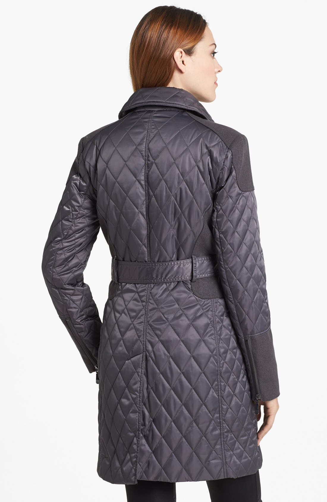 Alternate Image 2  - Vince Camuto Contrast Trim Quilted Coat