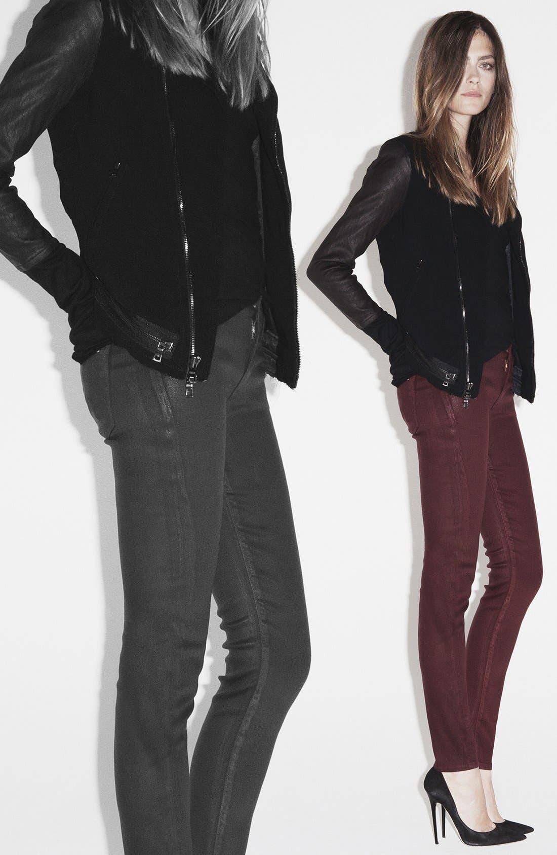Alternate Image 4  - Hudson Jeans 'Krista' Super Skinny Jeans (Crimson Wax)