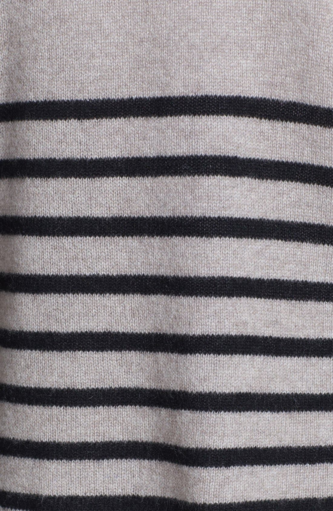 Alternate Image 3  - Halogen® Stripe Crop Cashmere Sweater
