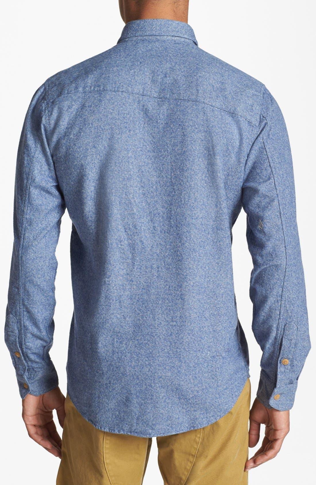 Alternate Image 3  - Volcom 'Powell' Mélange Cotton Shirt