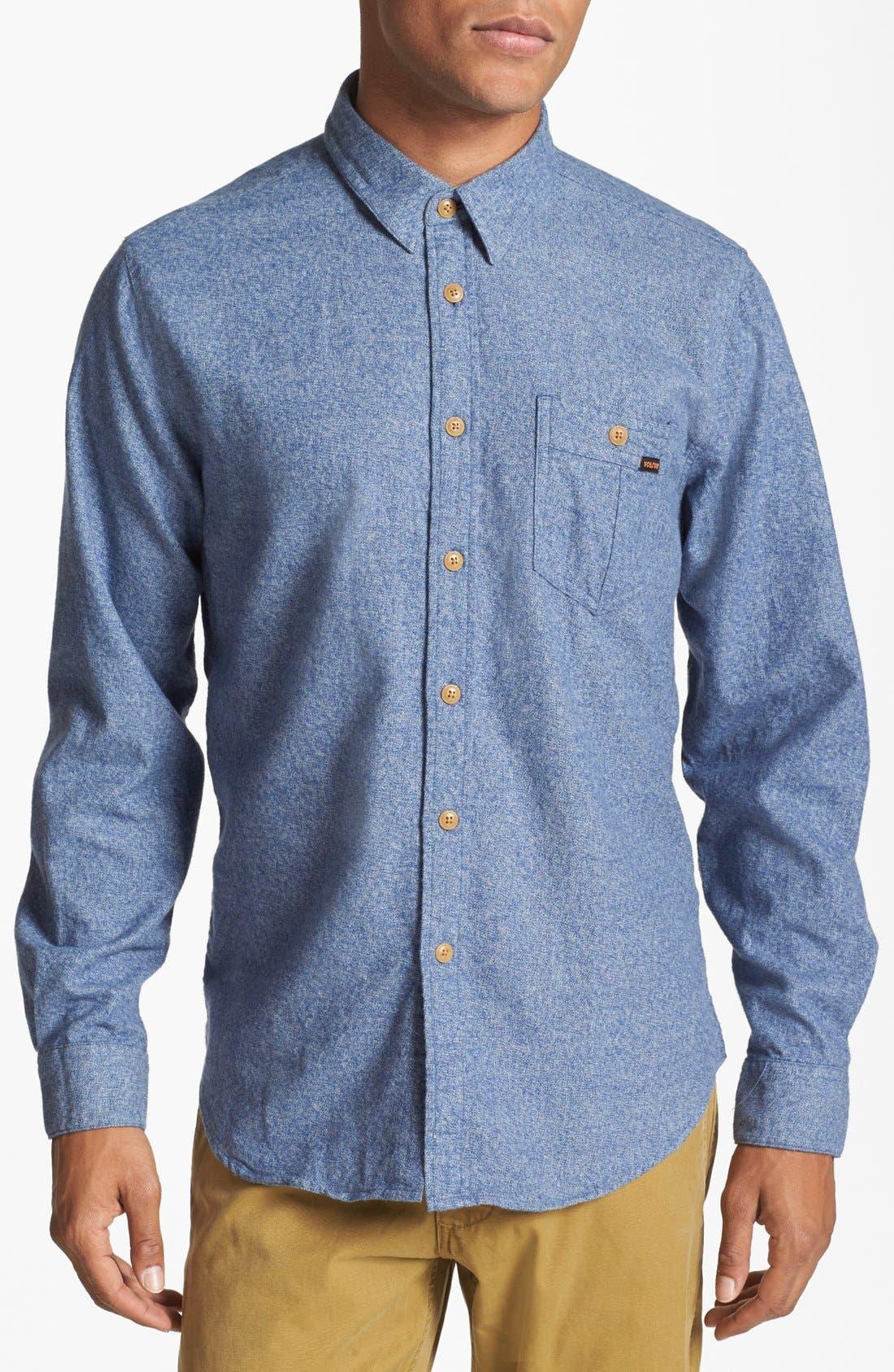 Alternate Image 1 Selected - Volcom 'Powell' Mélange Cotton Shirt