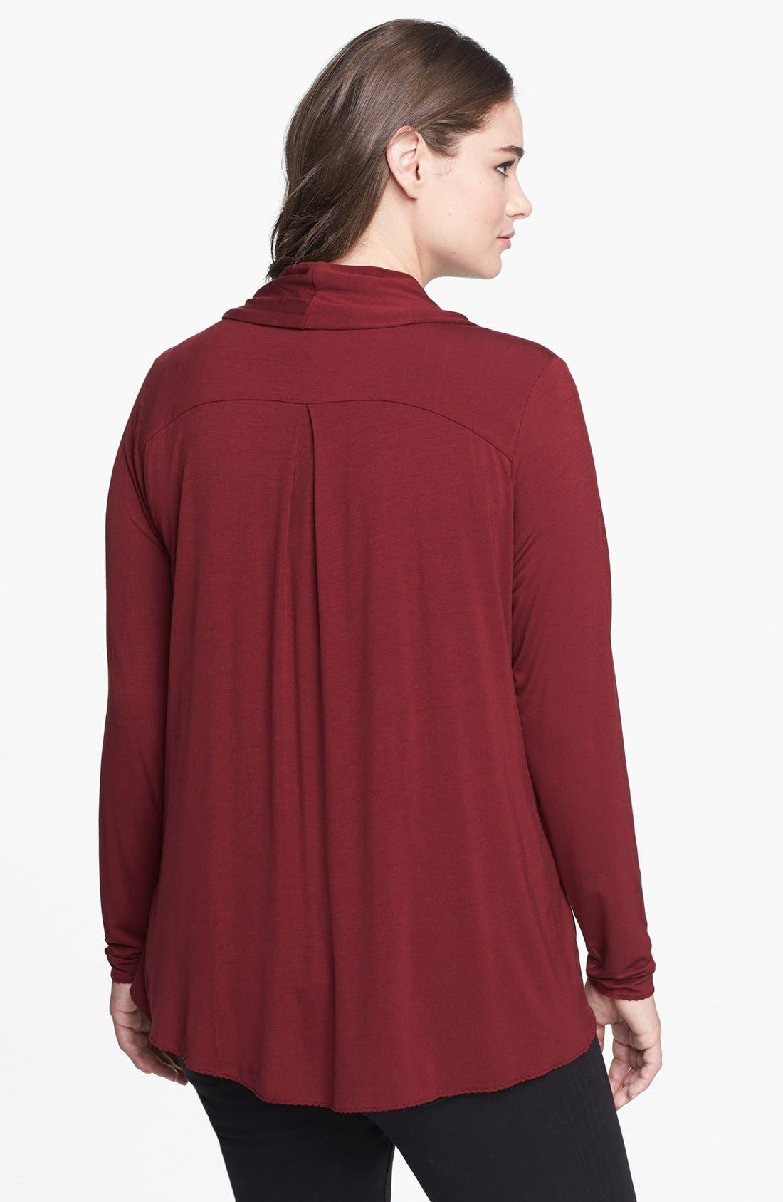 Alternate Image 2  - Kische Open Front Knit Cardigan (Plus Size)