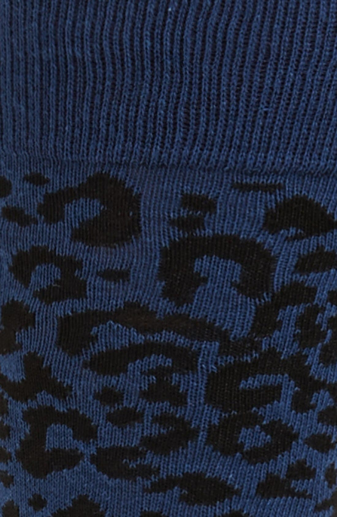 Alternate Image 2  - Topman Leopard Spot Socks