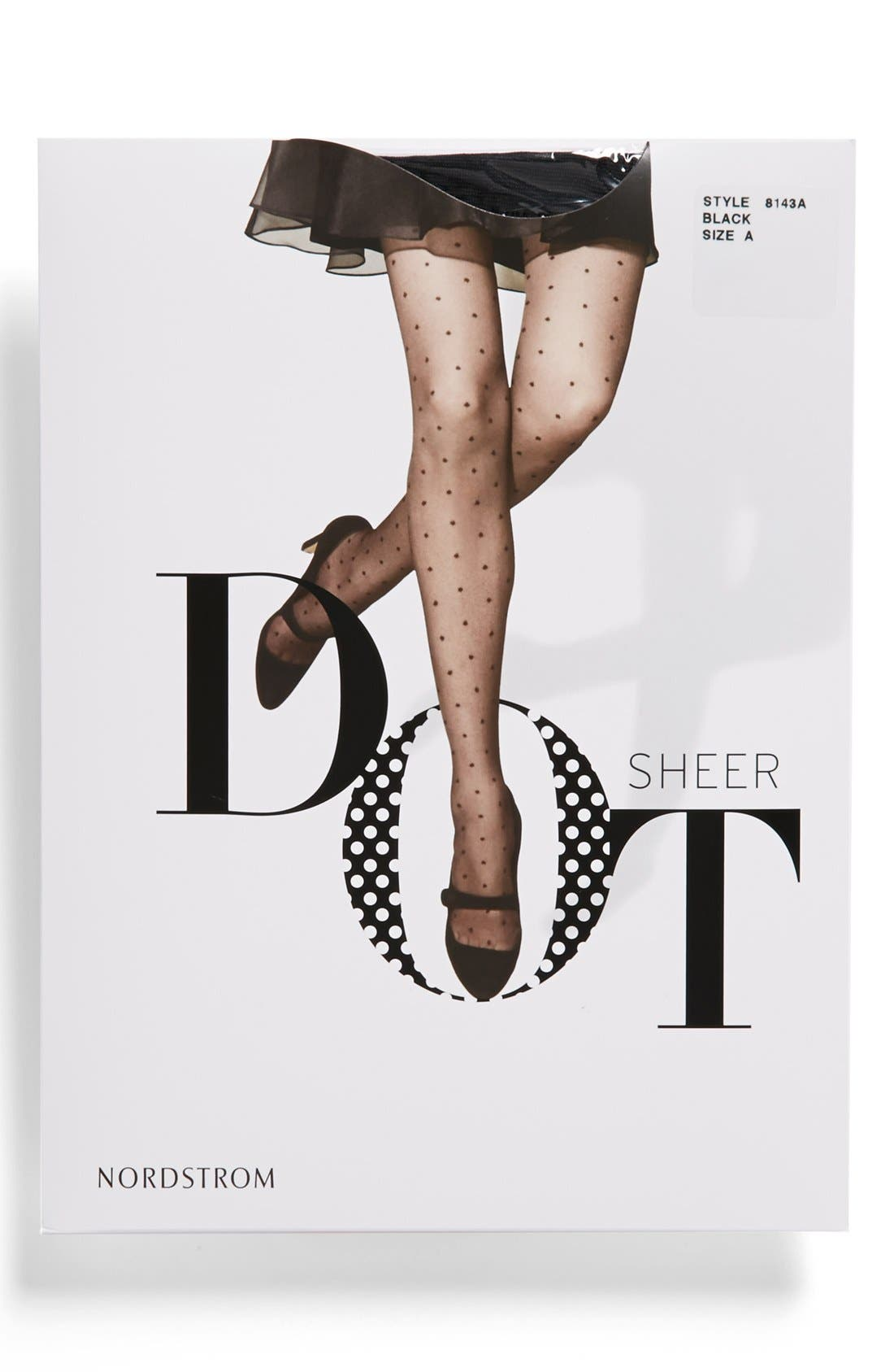 Alternate Image 2  - Nordstrom 'Sheer Dot' Control Top Pantyhose (Regular & Plus Size)