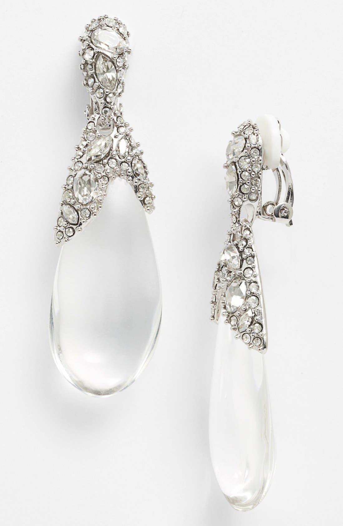 Alternate Image 1 Selected - Alexis Bittar 'Lucite® - Winter Deco' Clip Earrings