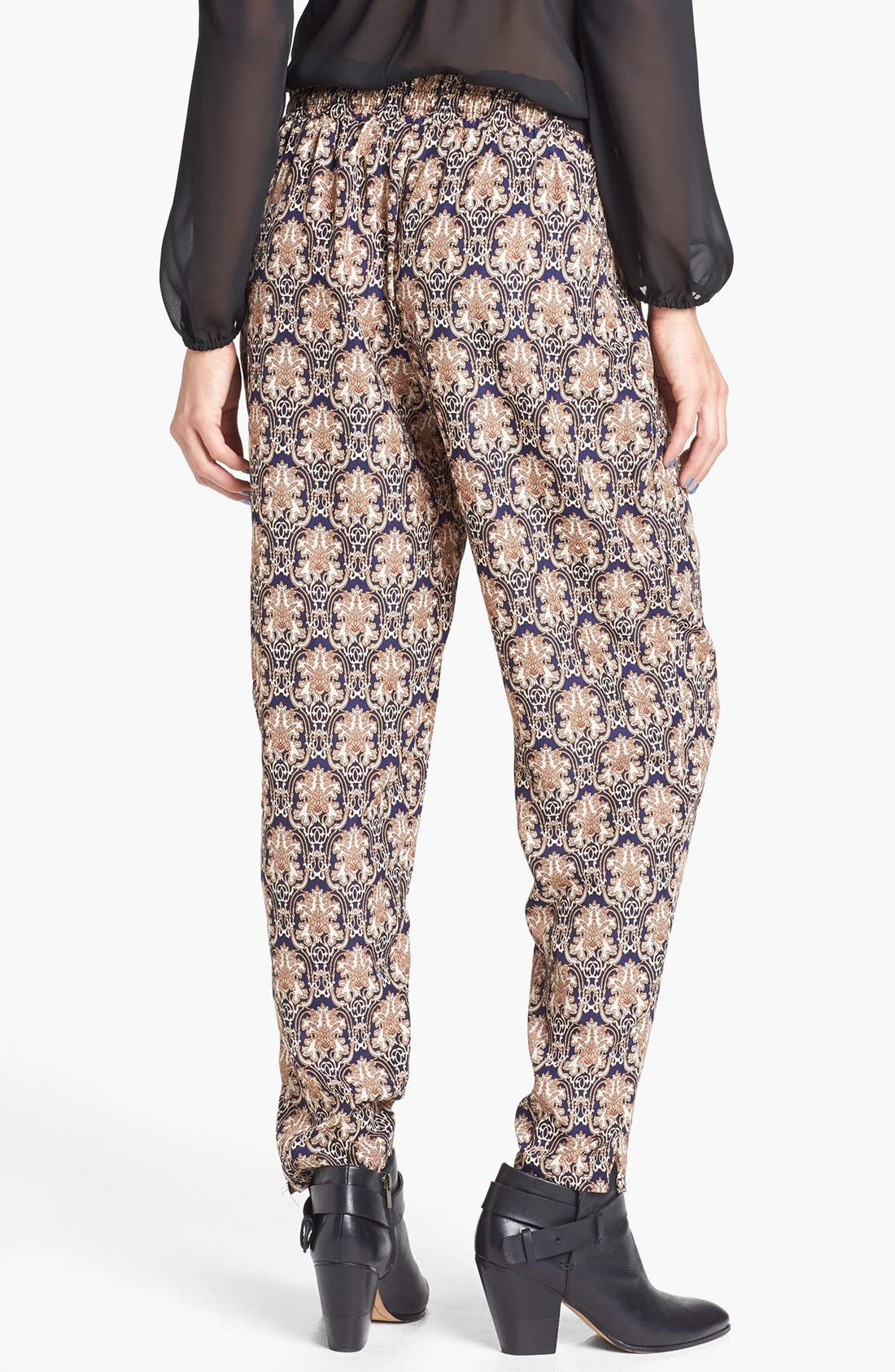 Alternate Image 2  - Blu Pepper Damask Print Harem Pants (Juniors)