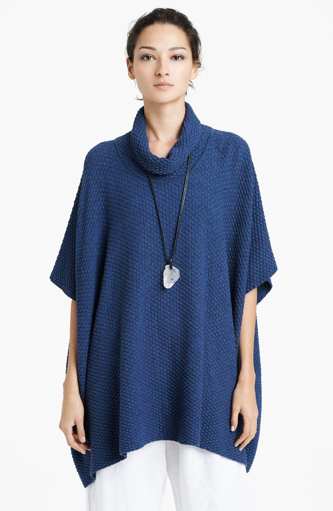 Alternate Image 1 Selected - eskandar Cowl Neck Knit Poncho Cape