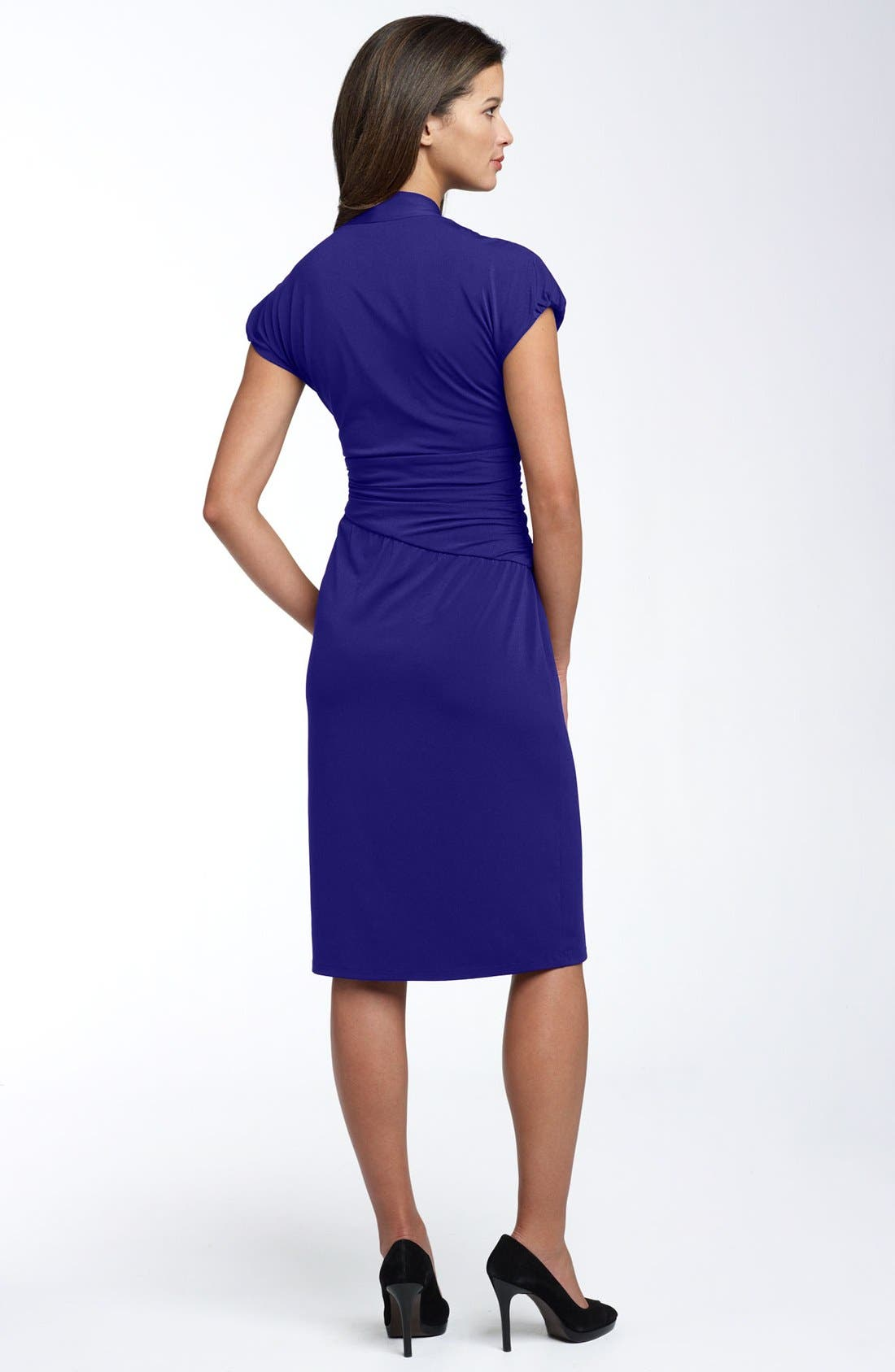 Alternate Image 2  - Ivy & Blu Ruched Faux Wrap Dress