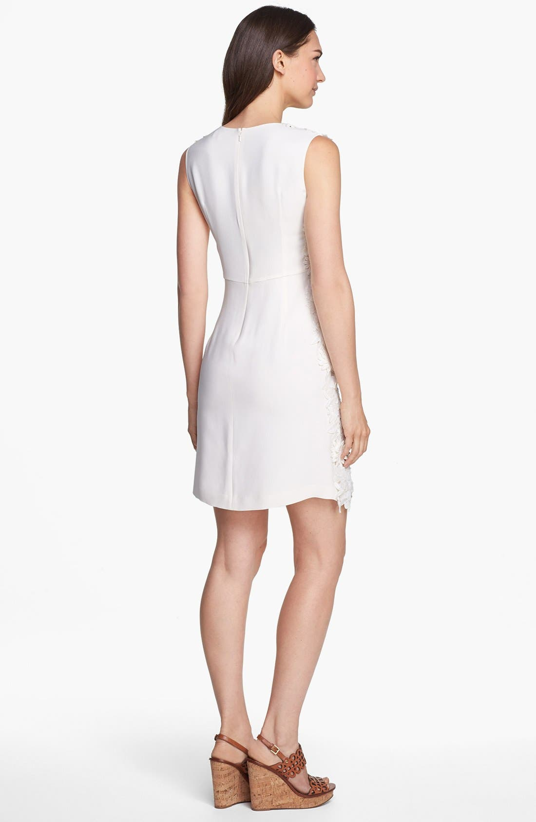 Alternate Image 2  - Tory Burch Guipure Lace Silk Sheath Dress