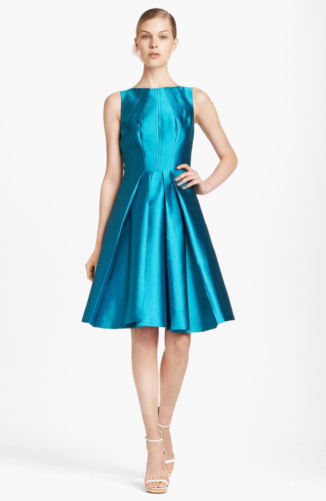 Alternate Image 1 Selected - Michael Kors Seamed Silk & Wool Dress