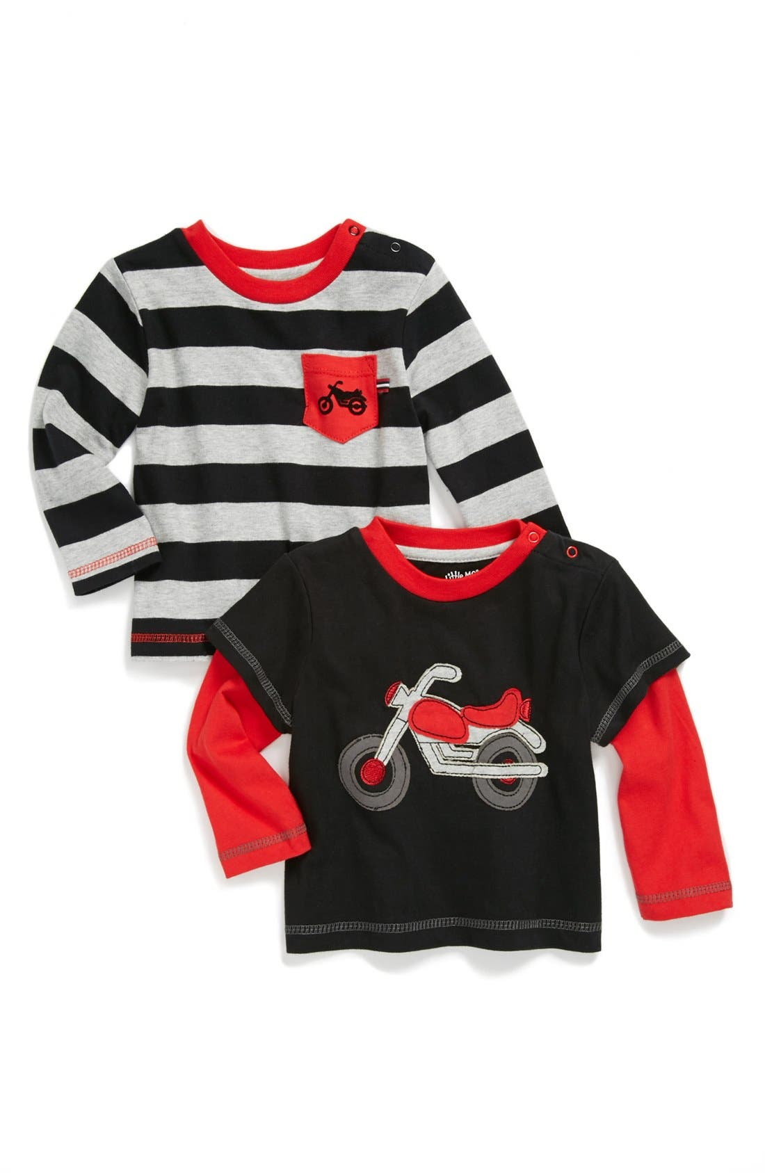 Main Image - Little Me 'Motorcycle' T-Shirt (2-Pack) (Baby Boys)