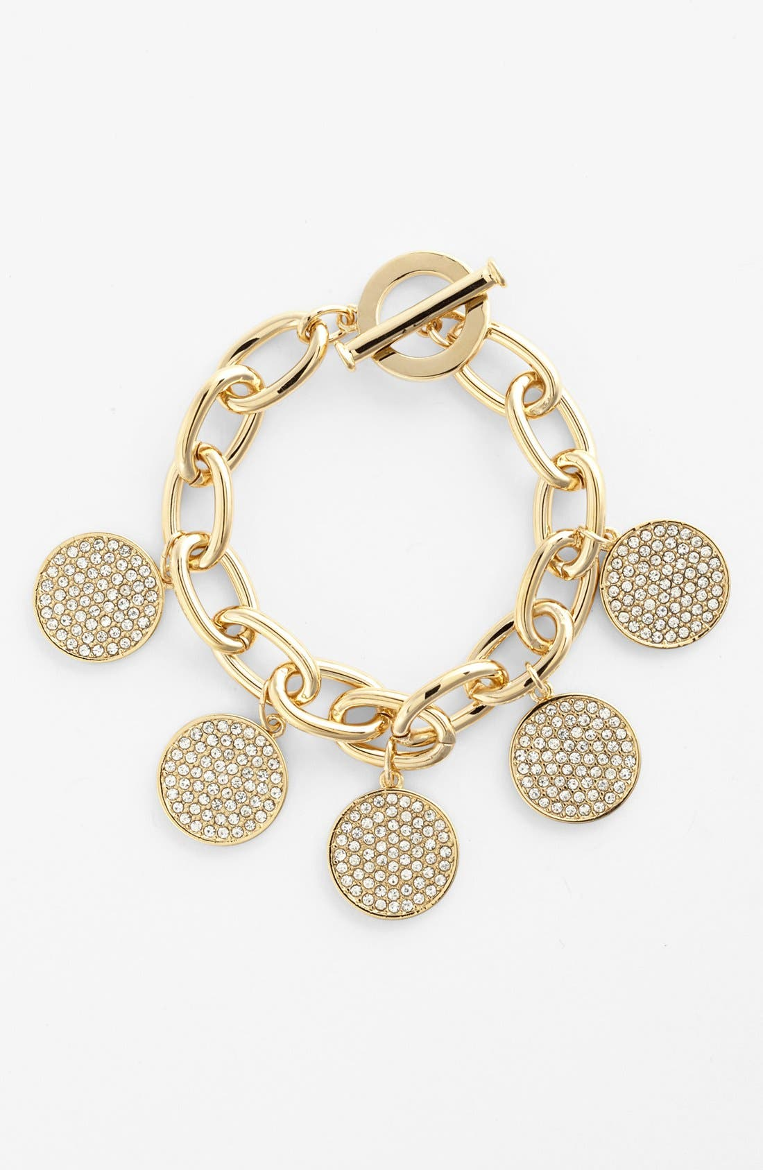 Alternate Image 1 Selected - Lauren Ralph Lauren Pavé Disc Chain Bracelet